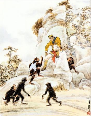 В легендах особой любовью пользовался Царь обезьян - Сунь У-кун