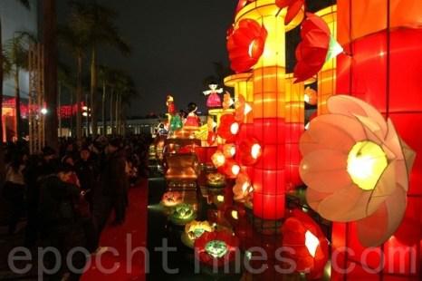 Праздник фонарей Юаньсяо в КитаеГонконг. Фото: The Epoch Times.
