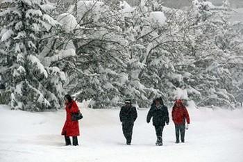 Китайский Синьцзян снова засыпает снегом.Снегопады побили 57-летний рекорд. Фото: AFP