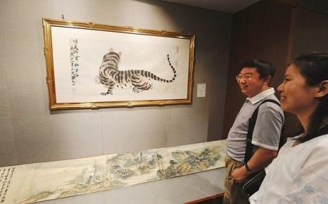 Начальная стоимость картины известного китайского художника Ци Байши «Тигр» 28 тысяч долларов США. Фото с epochtimes.com