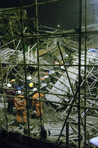 Китай.Фото с места происшествия в городе Гуйян провинции Гуйчжоу. 14 марта 2010 год. Фото: news.sohu.com