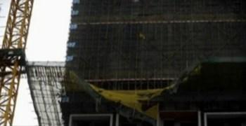 Китай г.Шечжень.В результате обрушения строительных лесов погибло 9 человек. Фото с epochtimes.com
