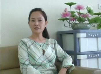 Сунь Сюэмэй рассказывает о пережитом в КНР. Фото: russian.ntdtv.com