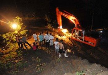 Родственники пропавшего организовали раскопки в надежде отыскать его. Фото с epochtimes.com