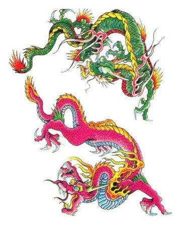 Китайские драконы. Фото: dragontattoodesigns.org