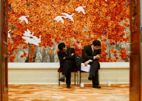 Около Большого народного зала, Пекин, 9 ноября 2012 года. Фото: Wang Zhao/AFP/Getty Images
