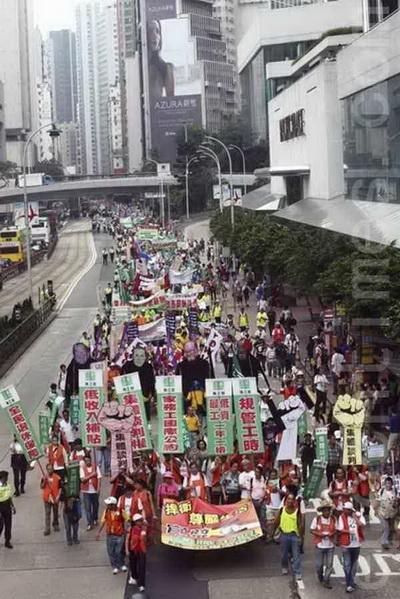 Фоторепортаж.В праздник труда гонконгцы вышли на демонстрацию. Фото:epochtimes.com
