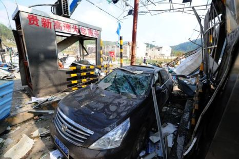 Мощный взрыв произошел на юге Китая.  Фото: STR / AFP / Getty Images