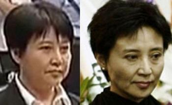 Есть подозрения, что в зале суда присутствовала не настоящая Гу Кайлай. Слева фото женщины из зала суда, справа настоящая Гу Кайлай. Фото с epochtimes.com