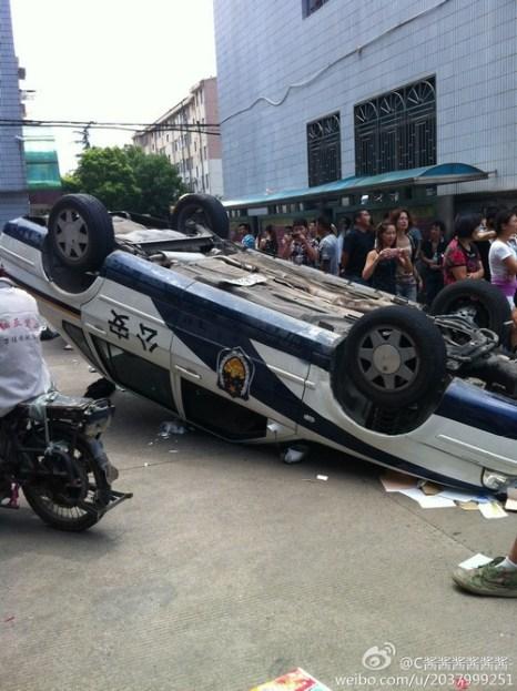 Протесты в городе Цидун провинции Цзянсу. Июль 2012 год. Фото с epochtimes.com