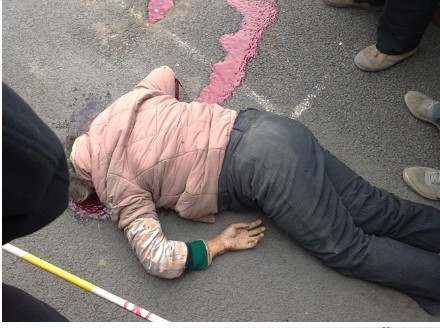 Жертвы, сбитые пьяным полицейским водителем. Провинция Хэнань. Октябрь 2011 год. Фото с weibo