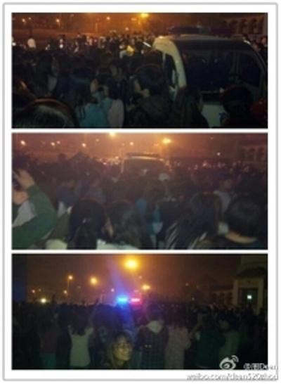В Китае тысячи студентов вышли с демонстрацией в знак протеста против ограничений на электроэнергию. Фото с epochtimes.com