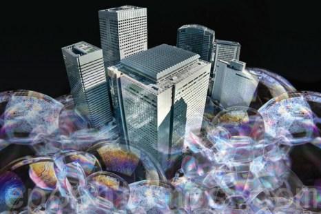 Пузырь на перегретом рынке недвижимости Китая начинает лопаться. Иллюстрация с epochtimes.com