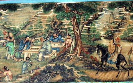 Картина «Семь мудрецов бамбуковой рощи» в Длинной галерее Летнего дворца в Пекине, Китай. Фото: en.wikipedia.org