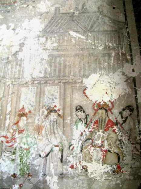Уникальная буддистская фреска времён династии Цин, находящаяся в храме на Горе Феникса в провинции Ляонин, нуждалась в восстановлении. Фото: STR/AFP/Getty Images