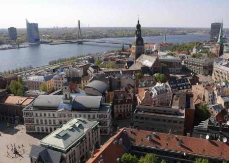 Латвия. Рига. Фото: ILMARS ZNOTINS/AFP/Getty Images