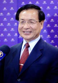 Хсу Тьен Цай, законодатель, присутствовал на спектакле Shen Yun Performing Arts в культурном центре Тайнаня (Хианг Жиксуан/The Epoch Times)