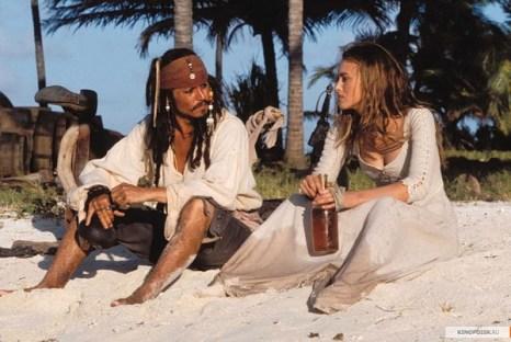 Джонни Депп и Кира Найтли в фильме «Пираты Карибского моря». Фото с сайта fotki.yandex.ru