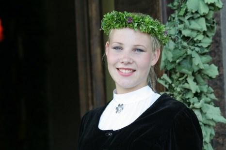X Праздник песни и танца школьной молодежи в Риге. Линда Зэйботе из Смилтене. Фото: Андрей Аболтиньш. Великая Эпоха