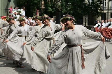 X Праздник песни и танца школьной молодежи в Риге. Фото: Андрей Аболтиньш. Великая Эпоха