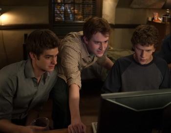 Кадр из фильма «Социальная сеть». Фото с сайта filmz.ru