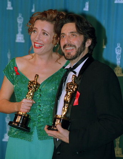 Обладатели «Оскара» актриса Эмма Томпсон и актер Аль Пачино. Фото: MIKE NELSON/AFP/Getty Images