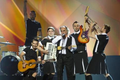Агафонас Иаковидис из Греции выступил на генеральной репетиции перед 2 полуфиналом Евровидения-2013. Фото:  Ragnar Singsaas/Getty Images