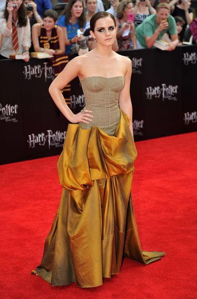 «Гарри Поттер и Дары смерти: Часть 2». Эмма Уотсон на премьере фильма «Гарри Поттер и Дары смерти: Часть 2» в Нью-Йорке. Фото: STAN HONDA/AFP/Getty Images