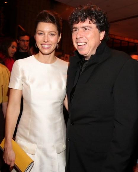 «Хичкок». Джессика Бил и режиссёр  Саша Джерваси на премьере фильма «Хичкок» в Калифорнии. Фото: Christopher Polk/Getty Images