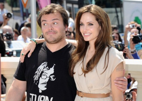 Анджелина Джоли и Джек Блэк в Каннах: фотосессия