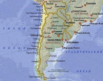 Карта Чили. Фото: chili.turne.com.ua