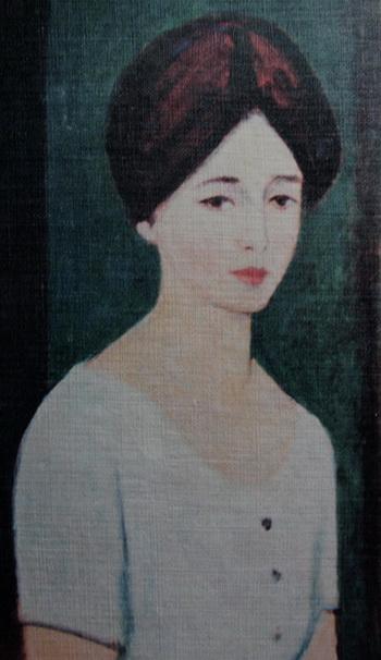 Елена Аксельрод, поэт. Портрет, написанный Меиром Аксельрод. Фото с обложки книги