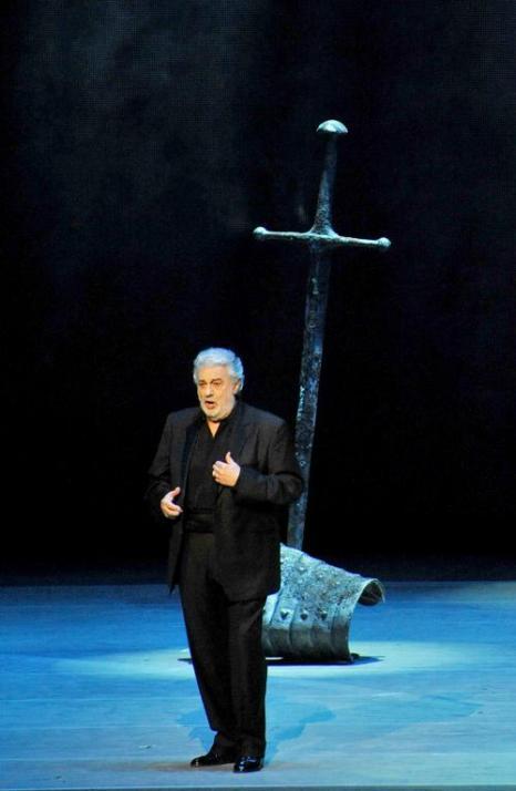 Выступление Пласидо Доминго на новой сцене Мариинского театра. Фото: OLGA MALTSEVA/AFP/Getty Images