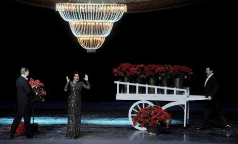 Выступление Анны Нетребко на новой сцене Мариинского театра. Фото: OLGA MALTSEVA/AFP/Getty Images