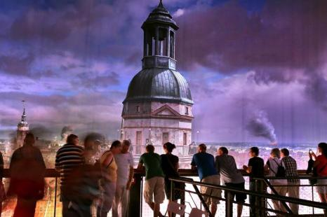 Самая большая в мире круговая панорама «Лейпциг, 1813 г.» открылась в Лейпциге в честь 200-летия «Битвы народов». Фото: Hannelore Foerster/Getty Images