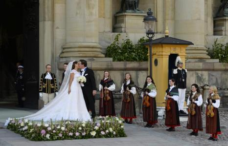 Принцесса Швеции Мадлен вышла замуж за американского бизнесмена Кристофера ОНила. Фото: JONATHAN NACKSTRAND/AFP/Getty Images