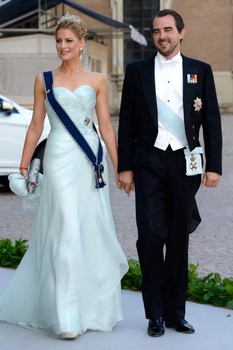 Князь Греции Николай и княжна Татьяна на свадьбе принцессы Мадлен и Кристофера ОНила в Швеции. Фото: Pascal Le Segretain/Getty Images
