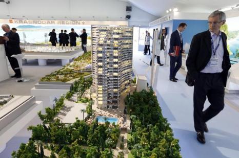 Россия представила лучшие проекты на инвестиционной выставке MIPIM-2013. Фото:  VALERY HACHE/AFP/Getty Images