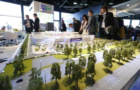 Масштабная модель города Киева на инвестиционной выставке MIPIM-2013. Фото:  VALERY HACHE/AFP/Getty Images