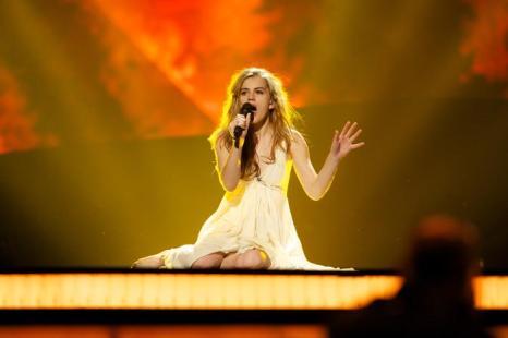 Эммили де Форест  из Дании на генеральной репетиции перед финалом 17 мая 2013 года. Фото: Ragnar Singsaas/Getty Images
