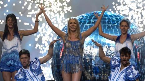 Алёна Ланская из Беларуси на генеральной репетиции перед финалом 17 мая 2013 года. Фото: JOHN MACDOUGALL/AFP/Getty Images