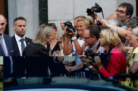 Принцесса Бельгии Астрид прибыла на праздник в честь отречения и коронации в Брюсселе (Бельгия) 20 июля 2013 года. Фото: David Ramos/Getty Images