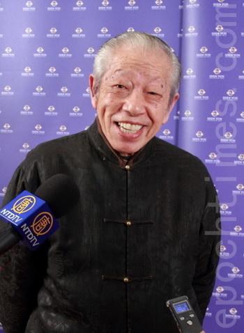 Китайский мастер каллиграфии Хуан Цюньин на представлении труппы Shen Yun в г.Таоюане. Фото: Лян Шуцзян/Великая Эпоха