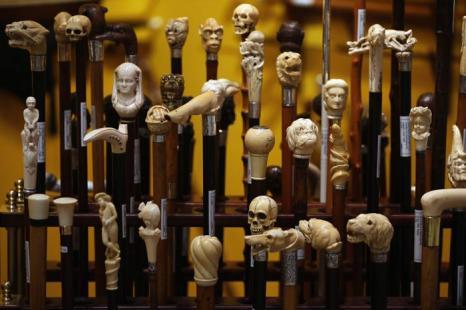 Антикварные трости в преддверии выставки изобразительного искусства и антиквариата 2013. Фото: Dan Kitwood/Getty Images