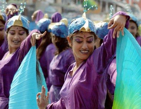 Ежегодно в феврале-марте в столице Гоа, Панаджи, проходит трехдневный карнавал. Традицию эту, как и многое другое, гоанцы переняли у португальцев. Фото: DESHAKALYAN CHOWDHURY/AFP/Getty Images