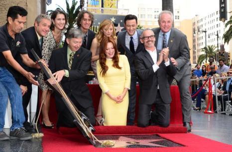 Одна из самых востребованных актрис Голливуда Джулиана Мур получила собственную звезду на голливудской «Аллее славы» 3 октября 2013 года. Фото: FREDERIC J. BROWN/AFP/Getty Images