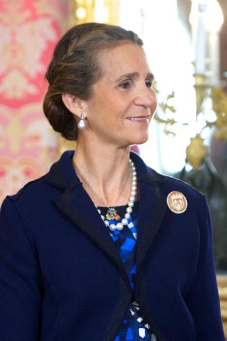 Принцесса Елена 12 октября 2013 года на приёме во дворце Зарзуэла по случаю празднования Национального дня Испании. Фото: Carlos Alvarez/Getty Images
