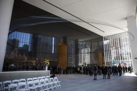 В Нью-Йорке 13 октября 2013 года прошло торжественное открытие первой башни Всемирного торгового центра (ВТЦ) под номером 4. Фото: Andrew Burton/Getty Images
