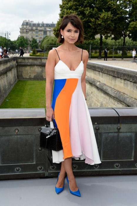 Мирослава Дума посетила показ Christian Dior в Париже 1 июля 2013 года. Фото: Pascal Le Segretain/Getty Images