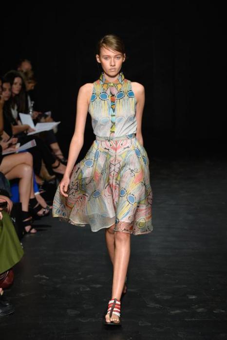 Индийский стиль представили на неделе моды в Австралии. Фото: Stefan Gosatti / Getty Images